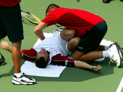Radek getting treatment
